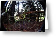 Old Farm Wagon Wheel Greeting Card