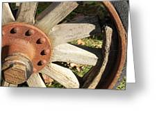 Old Farm Wheel Greeting Card