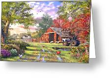Old Farmhouse Greeting Card