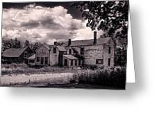 Old Farmhouse In Maine Greeting Card