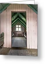 Old Farmhouse Interior Iceland Greeting Card