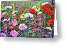 Old Fashioned Garden Greeting Card