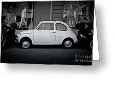 Old Fiat On The Streets Of Florence Greeting Card