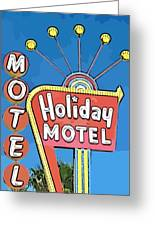 Old Fifties Vegas Hotel Sign Painting Greeting Card