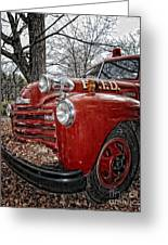 Old Fire Truck Greeting Card