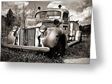 Old Firetruck Greeting Card
