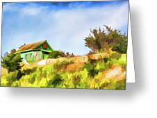 Old Fisherman's House On The Hill Greeting Card