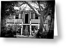 Old Florida Cottage Greeting Card