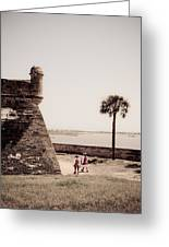 Old Florida Soldiers Greeting Card by Patrick  Flynn