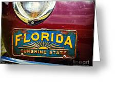 Old Florida Greeting Card
