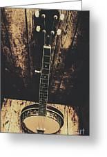Old Folk Music Banjo Greeting Card