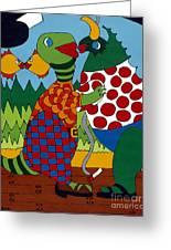 Old Folks Dancing Greeting Card by Rojax Art