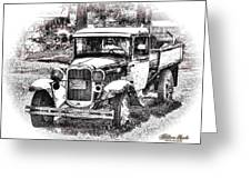 Old Ford Homemade Pickup Greeting Card