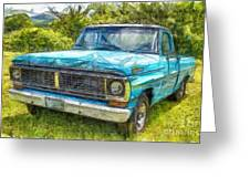 Old Ford Pick Up Truck Pencil Greeting Card