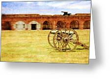 Old Fort And Cannon Still Liife Greeting Card