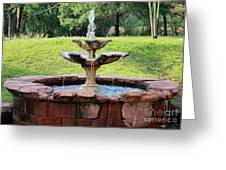 Old Fountain Greeting Card