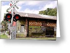 Old Freight Depot Perry Fl. Built In 1910 Greeting Card