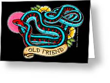 Old Friend Red-sided Gartersnake Greeting Card