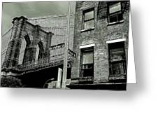 Old Fulton And Water Streets 2 Greeting Card
