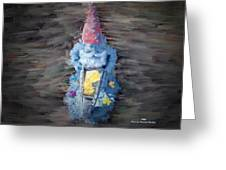 Old Garden Gnome Greeting Card