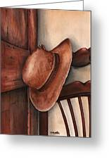 Old Garden Hat Greeting Card by Angela Armano