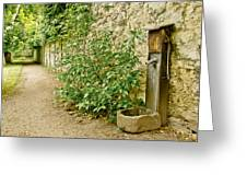 Old Garden Tap Greeting Card