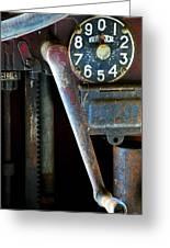 Old Gas Pump Greeting Card