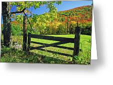 Old Gate At East Orange Greeting Card