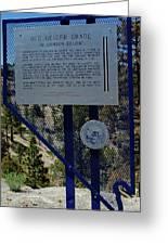 Old Geiger Grade Nevada Greeting Card