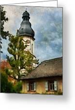 Old German Church Tower Greeting Card