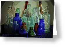 Old Glass Bottles Greeting Card