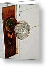 Old Glass Doorknob Greeting Card