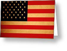 Old Glory . Square Greeting Card by Wingsdomain Art and Photography