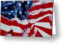 Old Glory  1 Greeting Card