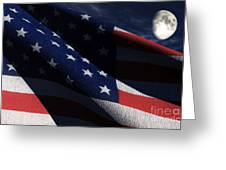 Old Glory 2 Greeting Card