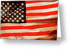 Old Glory Flag In Breeze Greeting Card