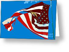 Old Glory Flying Greeting Card
