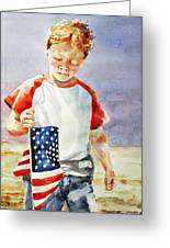 Old Glory Forever Young Greeting Card by Diane Fujimoto