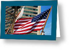 Old Glory In Baltimore Greeting Card