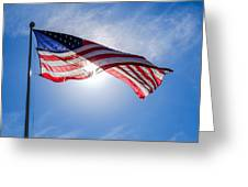 Old Glory In The Sun Greeting Card