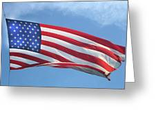 Old Glory Never Fades Greeting Card