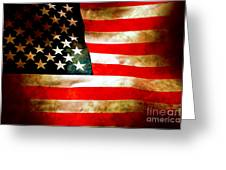 Old Glory Patriot Flag Greeting Card