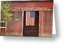 Old Glory Quote Greeting Card