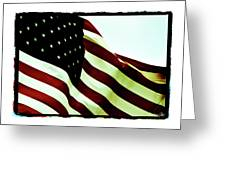 Old Glory Greeting Card