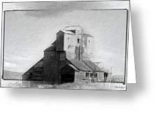 Old Grain Elevator Greeting Card