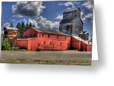 Old Grain Elevator Sandpoint Greeting Card