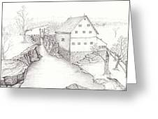 Old Grist Mill Greeting Card