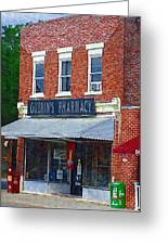 Old Guerins Pharmacy Greeting Card