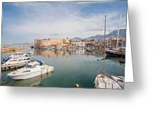 Old Harbour Of  Kyrenia, In Cyprus Greeting Card
