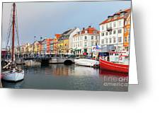 Old Harbour Of Nyhavn  Greeting Card